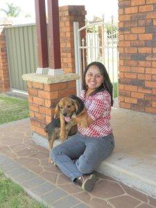 Yo con mi perrito en Dubbo