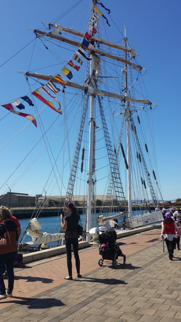 Tall Ship en Port Adelaide.